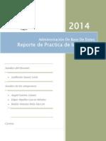 Reporte Practica Base de Datos. Instancias