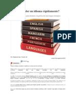 Cómo aprender un idioma rápidamente