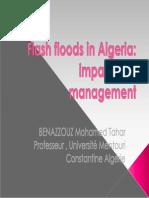conférence CAIRO flash flood in Algeria prof BENAZZOUZ