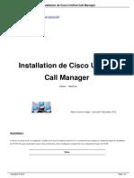 Installation de Cisco Unified Call a240
