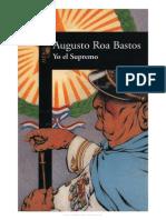 Augusto Roa Bastos Yo El Supremo