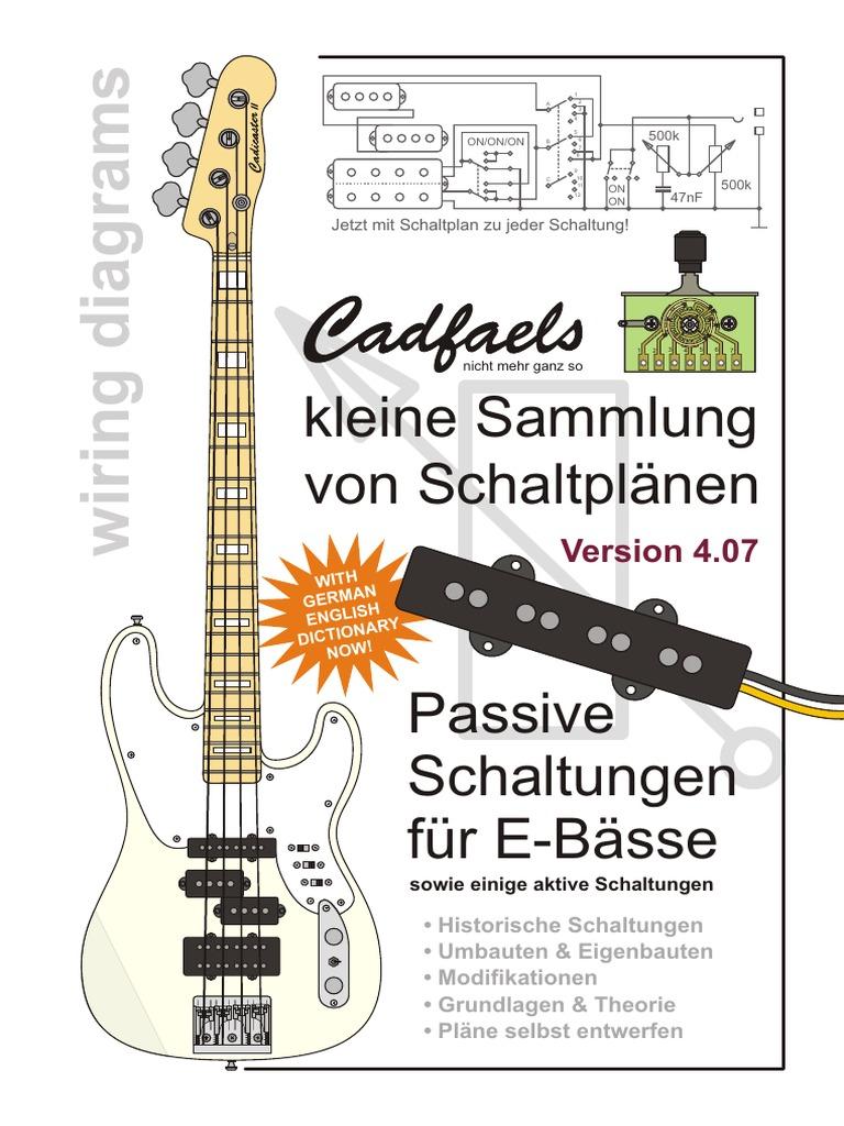 Groß Beste Sammlung Bass Schaltplan Fotos - Der Schaltplan ...