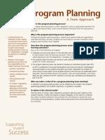 program planning factsheet
