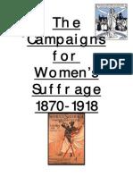 Suffragette Revision Booklet