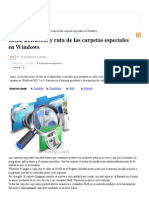 Lista, Ubicacion y Ruta de Las Carpetas Especiales en Windows 7
