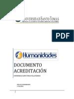Documento acreditación Unidad de Humanidades Villavicencio