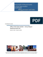 Massachusetts Auditor's Final Medicaid Audit Unit FY14 Report