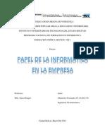 Pael de La Informatica en La Empresa