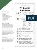 Animal Minibook