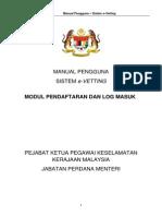 Manual Pengguna - Daftar Log Masuk