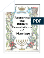 Restoration of Our Hebraic Roots in the Wedding Ceremony
