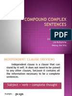 Compound Complex Sentence - English 1