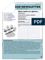 6th grade newsletter march 14 2014