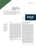 Campos, R. & Furtado, J. – Entre a saude coletiva e a saude mental. Um instrumental para avaliacao da rede dos CAPS