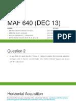 MAF 640 (DEC 13) Q2
