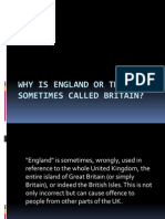 Why is England or the UK Sometimes Called 1