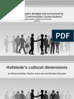 Hofstede Cultural Dimension 1