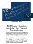 REST-based Integration Architecture for a Financial Business Service