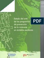 Estado Del Arte Programas de Prevencion de Violencia en Escuela