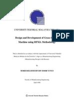 Design and Development of Grass Cutting Machine Using DFMA Methodology