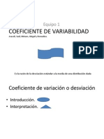 Coeficiente de Variabilidad
