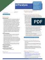 Acute Flaccid Paralysis (AFP) Reportable Disease