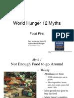 World Hunger 12 Myths