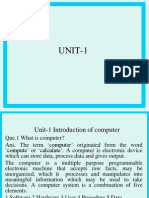 Unit-1 Introduction of Computer Mbafirst