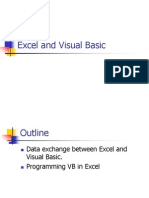 Excel and Visual Basic
