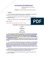 BRASIL Reglamento de Radiodifusión Sonora - Decreto N°52795 de 1963