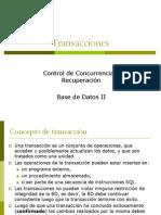 2. Transacciones y Concurrencia en Diseño de BDD