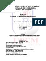 BINOMIO ENTREVISTADOR-ENTREVISTADO