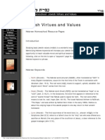 Jewish Virtues and Values - Homeschool Pages