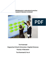 Interactive Whiteboards in educational practice