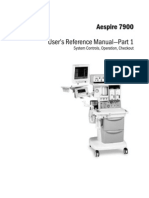 Datex-Ohmeda Aespire 7900 Anaesthesia Machine - User Manual