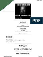 1671 - O QUE É METAFÍSICA - HEIDEGGER