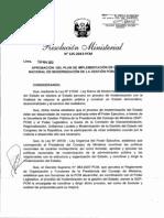 Plan de Implementación de la  PNMGP  RM-125-2013