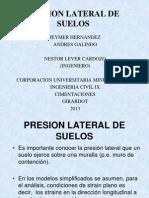 Exposicion Presion Lateral en Suelos Cimentaciones