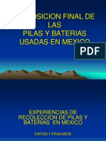 Disposicion Final de Las Pilas