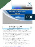 4G Mobile IPR Seminar & Panel Discussion