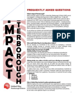 Impact Peterborough Frequently Asked Questions