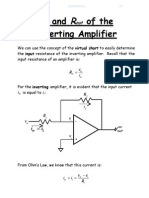 Ri and Ro of the Inverting Amplifier