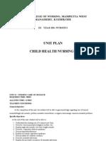 Unit Plan Nursing Management