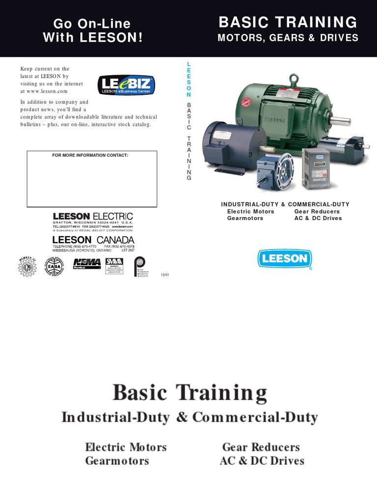 Basic Training for Electrical Motors Leeson Electric – Leeson Motor Wiring Diagram