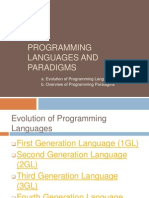 Languages and Paradigms