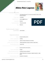 Jesus Manuel Albino Ruiz Lagunas - Currículum Vitae