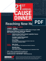 21st Annual CAUSE Dinner Sponsorship Kit