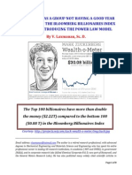 Billionaires as a Group Not Having a Good Year According to the Bloomberg Billionaires Index; Part 1 of 3