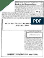 Clásicos del Personalismo - Jean Lacroix.pdf