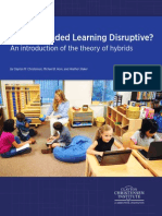 Is K 12 Blended Learning Disruptive